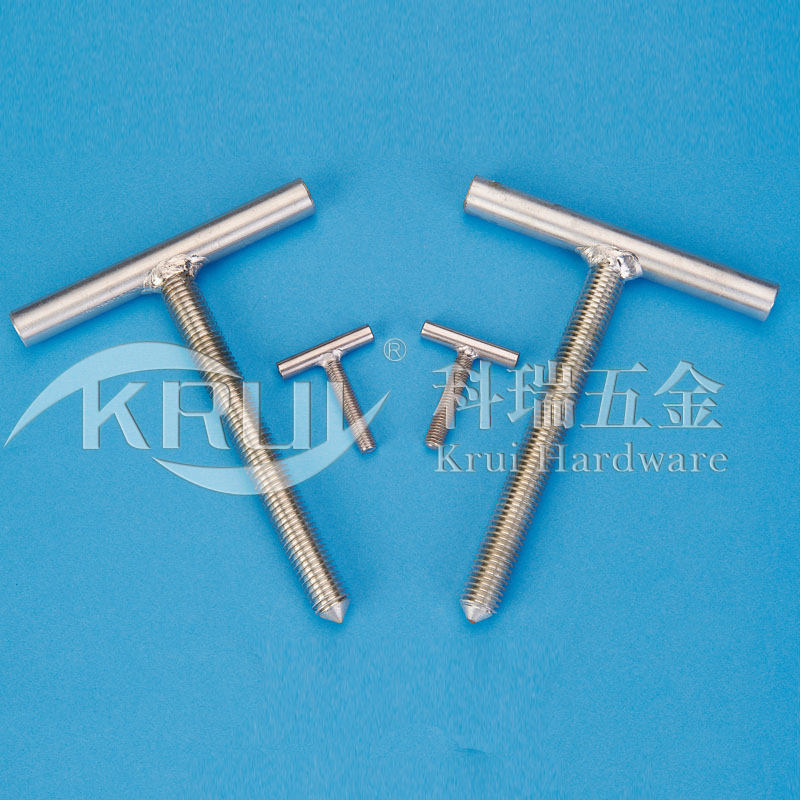 The non-sign has custom-made--The stainless steel T hand twists the screw welding combined type